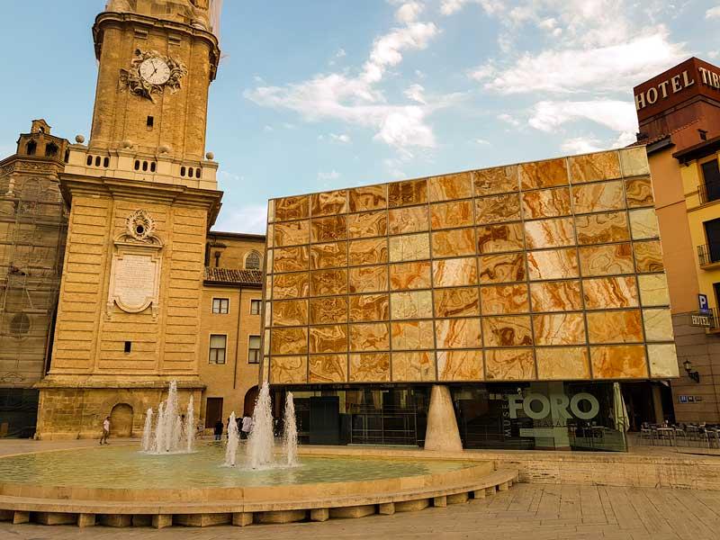 Fachada exterior del Museo del Foro Romano de Caesaraugusta de Zaragoza