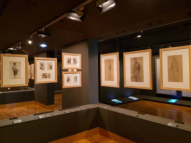 Vista de la sala de dibujos del Museo Pablo Gargallo