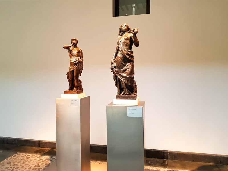 El pastor de la flauta y la vendimiadora, esculturas de Pablo Gargallo