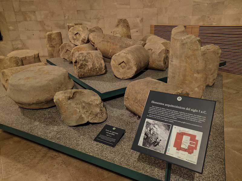 Restos arquitectónicos del Foro Romano de Caesaraugusta