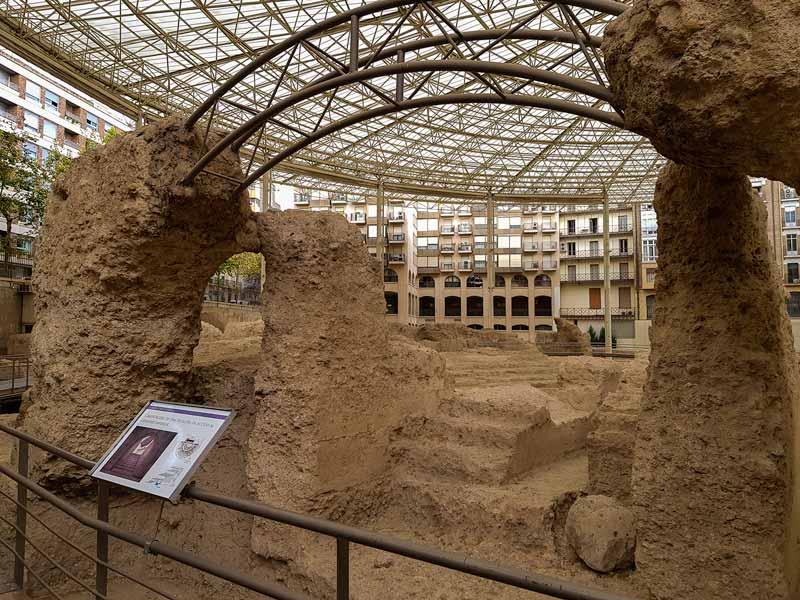 Arco de acceso al Teatro Romano de Caesaraugusta - Zaragoza