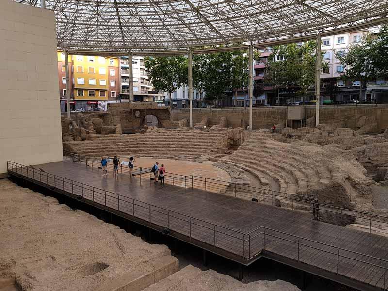 Teatro Romano de Caesaraugusta en Zaragoza