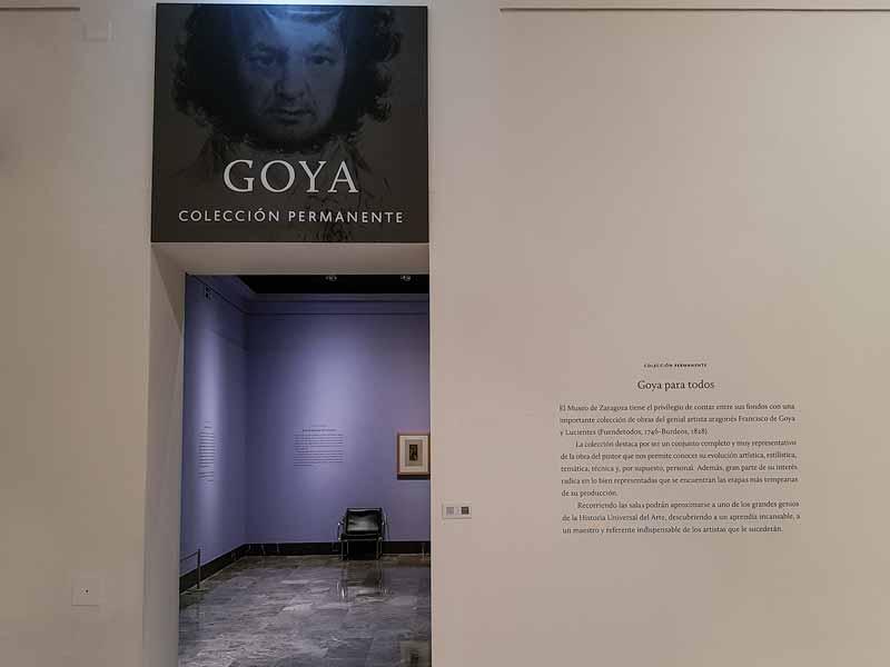 Acceso colección permanente de Goya. Museo de Zaragoza