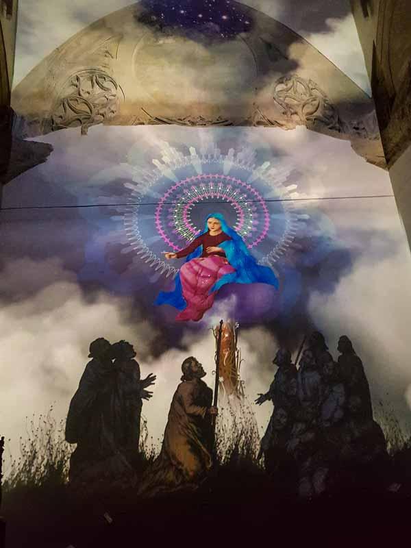 Sala 2: Audiovisual de la venida de la Virgen del Pilar - Alma Mater Museum