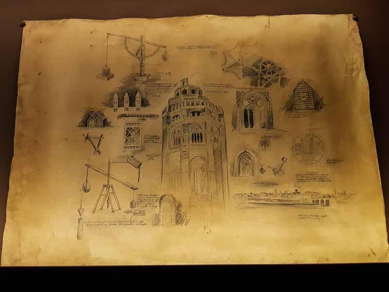 Planos de construcción del cimborrio de La Seo - Alma Mater Museum - Zaragoza