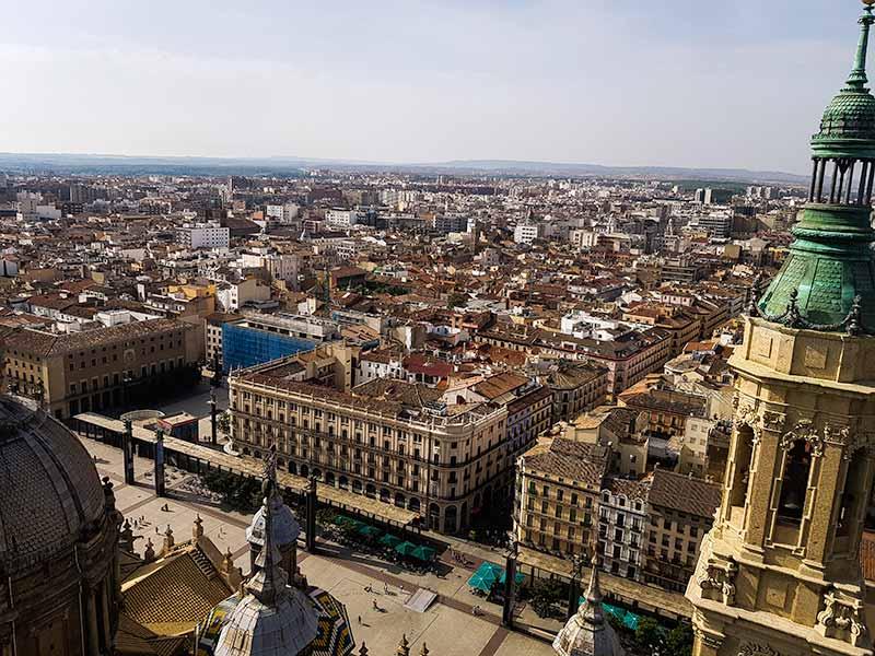 Vistas de Zaragoza desde la torre