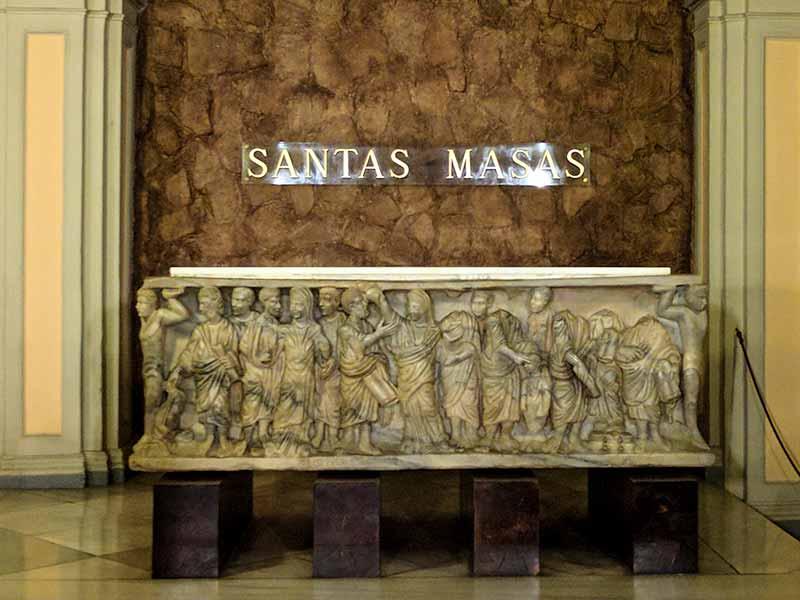 Sarcófago Receptio animae de la cripta de la iglesia de Santa Engracia de Zaragoza