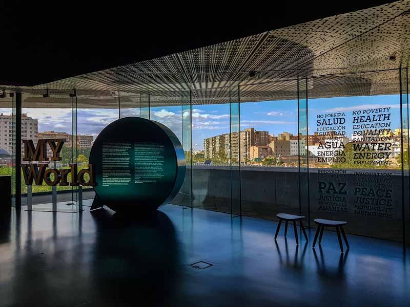 Sala de exposiciones de Caixaforum Zaragoza