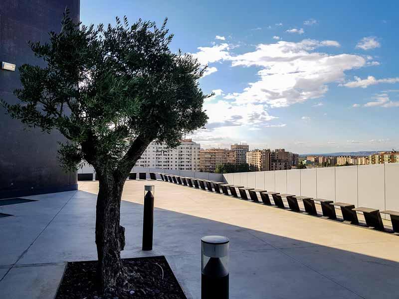 Mirador superior de CaixaForum Zaragoza