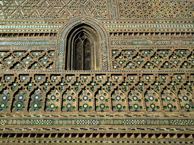 Detalle del muro mudéjar de la parroquieta de la Seo - Zaragoza