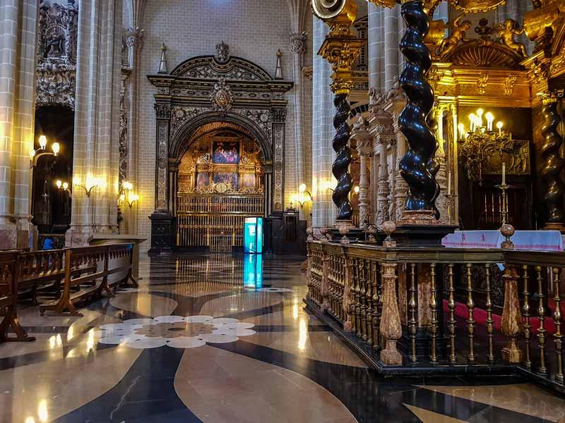 Trascoro y capilla de la Catedral de la Seo - Zaragoza