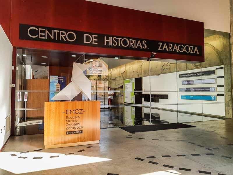 Entrada del Centro de Historias de Zaragoza