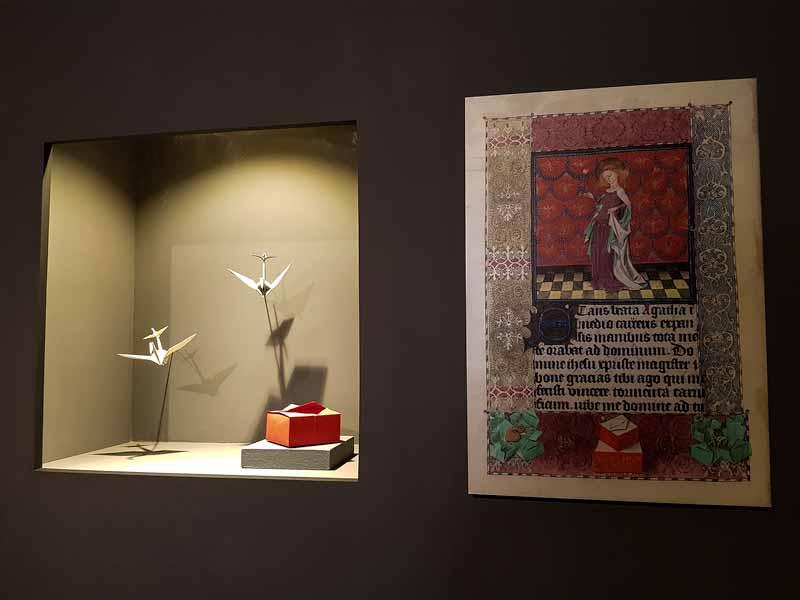 Expositor del museo del origami de Zaragoza