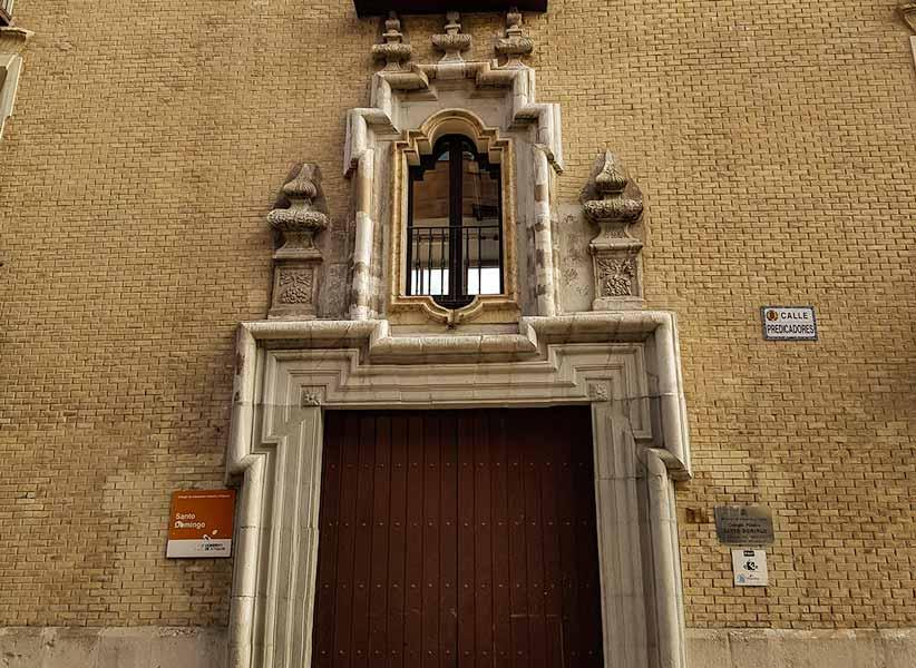 Detalle de la puerta del Palacio de Villahermosa de Zaragoza