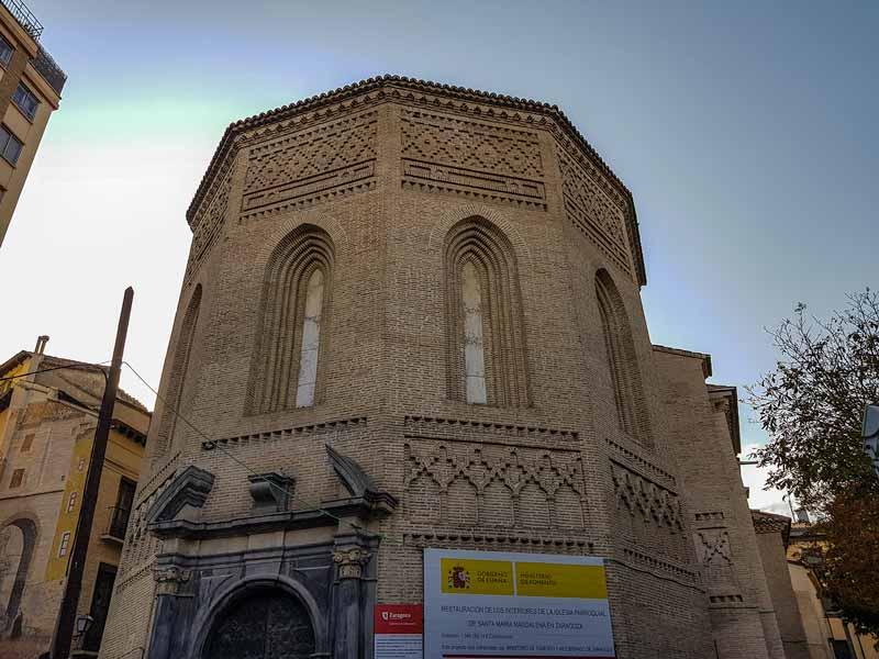Ábside de la iglesia de la Magdalena de Zaragoza
