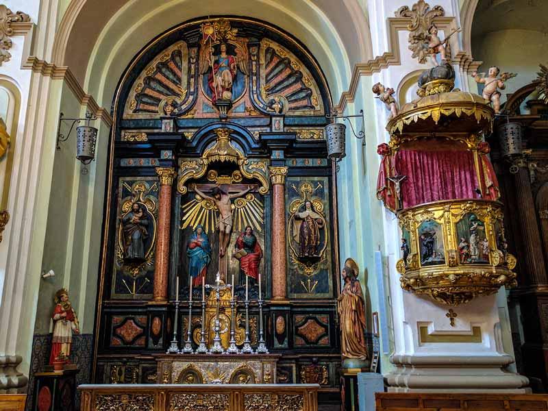 Retablo menor de la iglesia de San Gil Abad