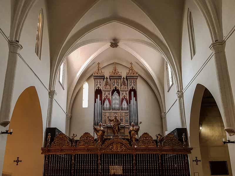 Órgano gótico y verja del coro de la iglesia de San Pablo - Zaragoza