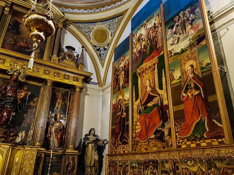 Retablo de Santa Catalina de la capilla de Santiago en la Iglesia de San Pablo - Zaragoza