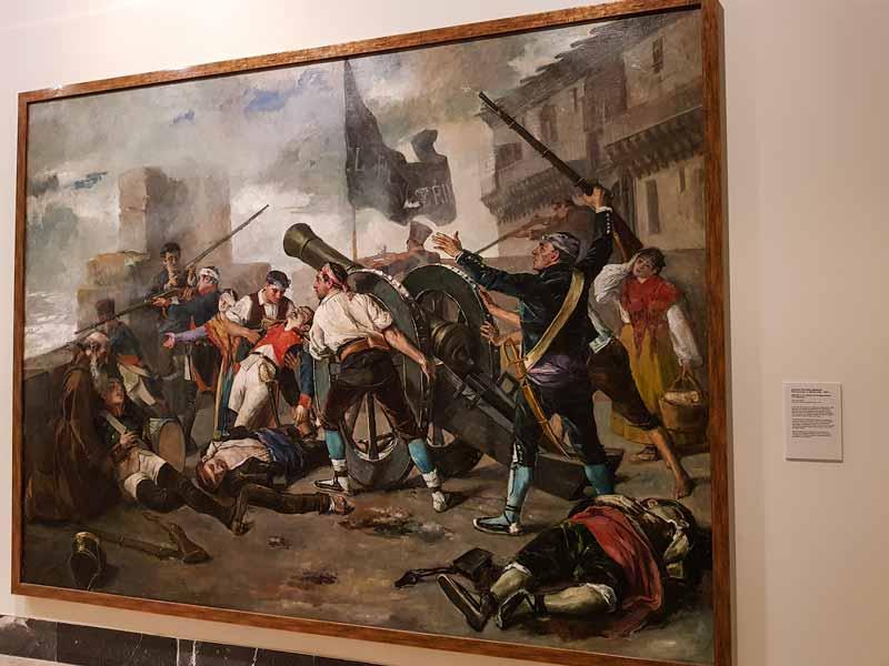 Jiménez Nicanor: Episodio de la defensa de Zaragoza frente a los franceses. Museo de Zaragoza