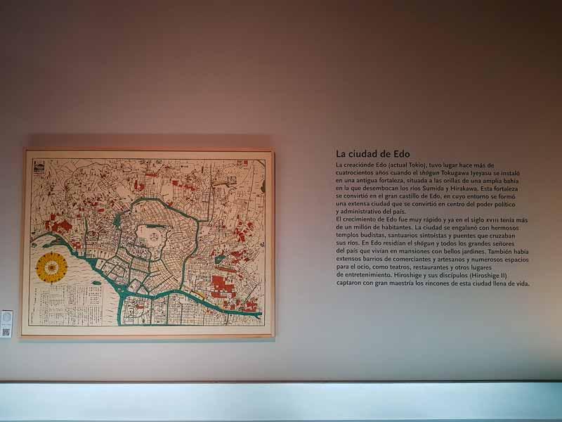 Mapa de Edo, actual Tokio. Museo de Zaragoza