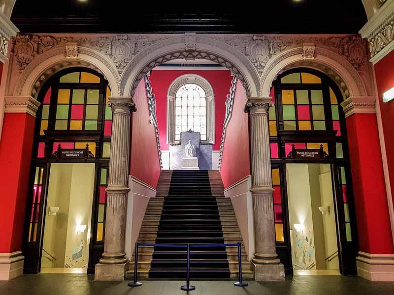 Escaleras de acceso al museo del Paraninfo de la Universidad de Zaragoza