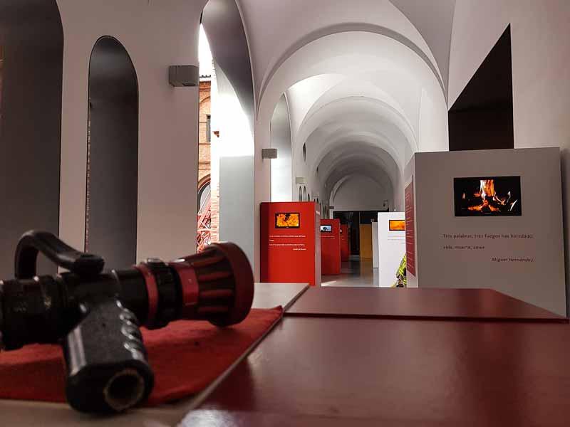 Pasillo del fuego del museo
