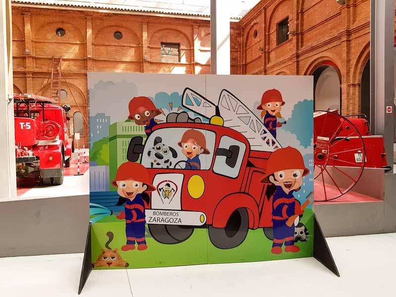 Photocall infantil del Museo del Fuego y de los Bomberos de Zaragoza