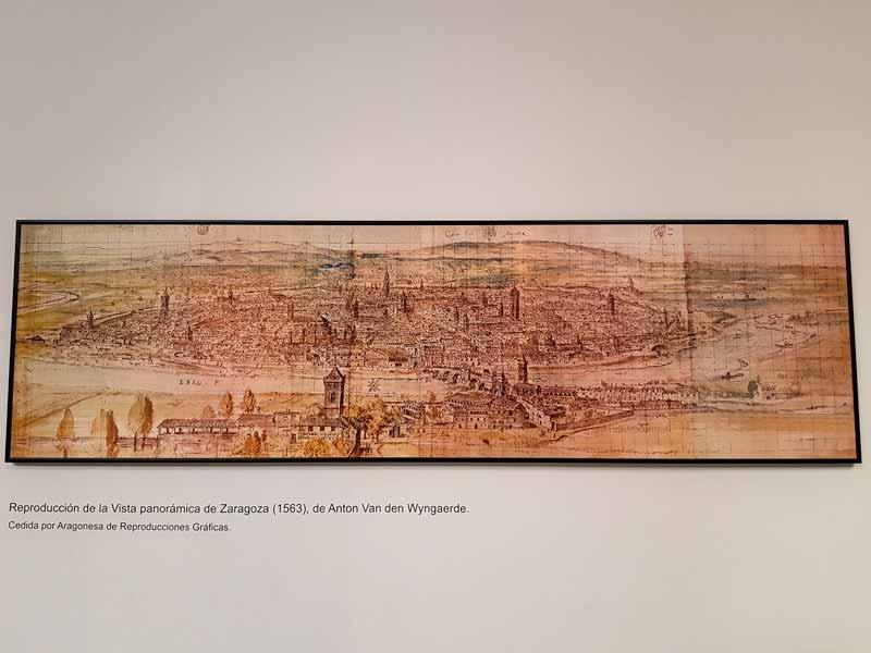 Reproducción de la vista paronámica de Zaragoza 1563