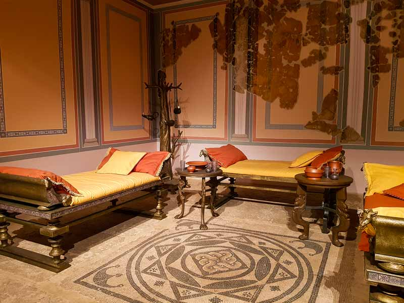 Reconstrucción de una Domus (casa) romana. Museo de Zaragoza
