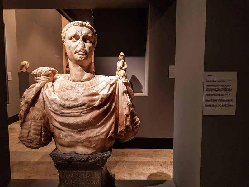 Escultura Romana de Claudio. Museo de Zaragoza