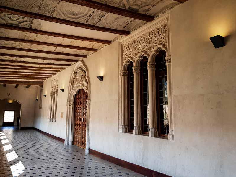 Galería del palacio mudéjar de la Aljafería