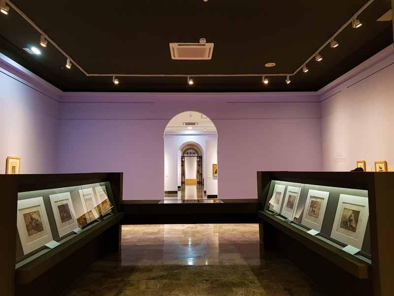 Museo de Zaragoza. Sala de grabados de Goya