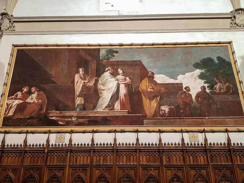 Detalle de un óleos de Goya de la Cartuja del Aula Dei - Zaragoza