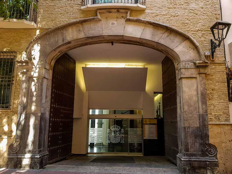 Puerta barroca de la Casa de los Tarín