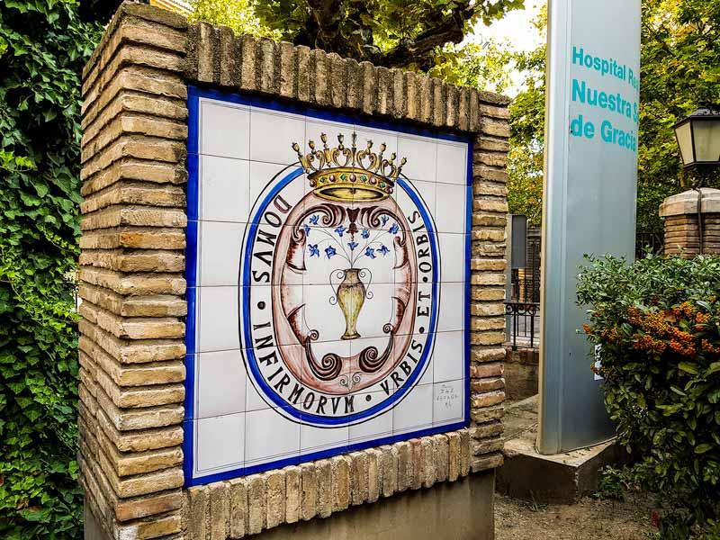 Letrero exterior del Hospital Provincial de Nuestra Señora de Gracia