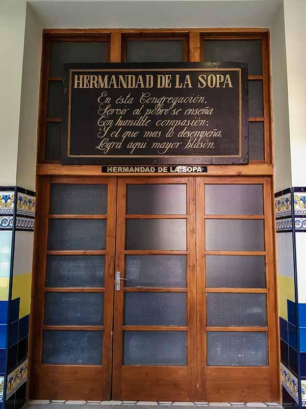 Puerta de la Hermandad de la Sopa del Hospital Provincial de Nuestra Señora de Gracia