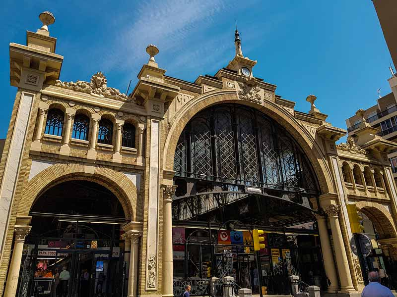 Fachada del Mercado Central de Zaragoza