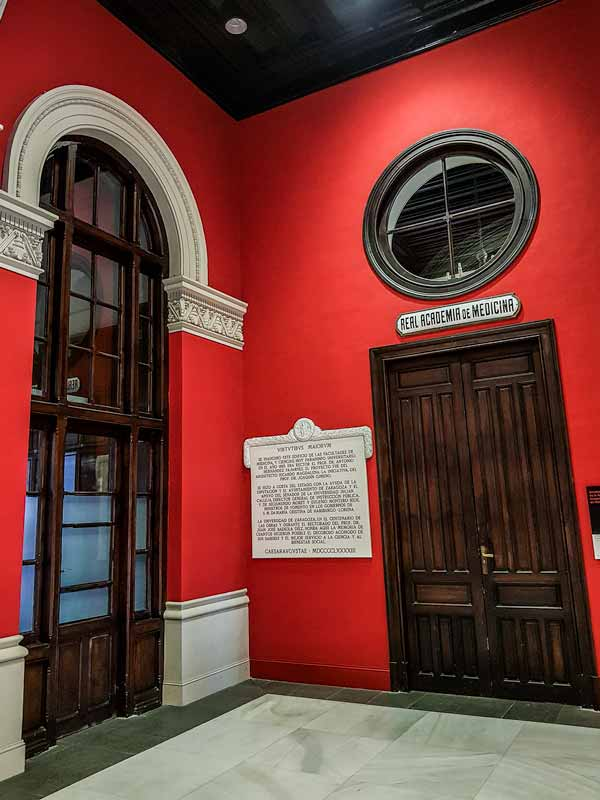 Interior del Paraninfo de la Universidad de Zaragoza
