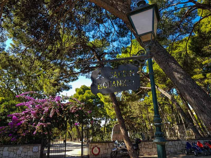 Entrada del Jardín Botánico de Zaragoza