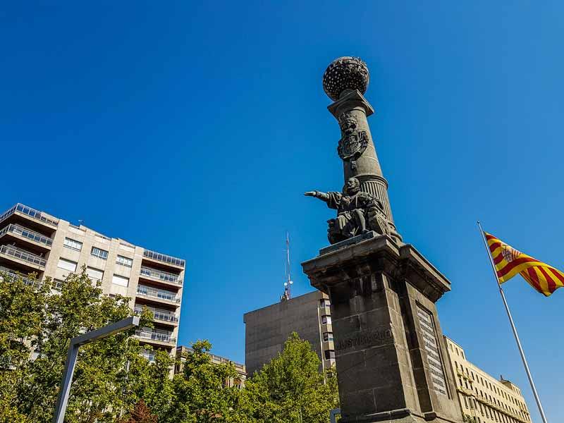 Detalle del Monumento al Justiciazgo de Aragón