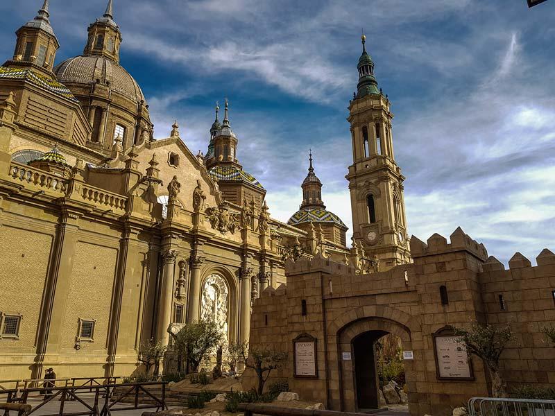Entrada al Belén de la Plaza del Pilar de Zaragoza