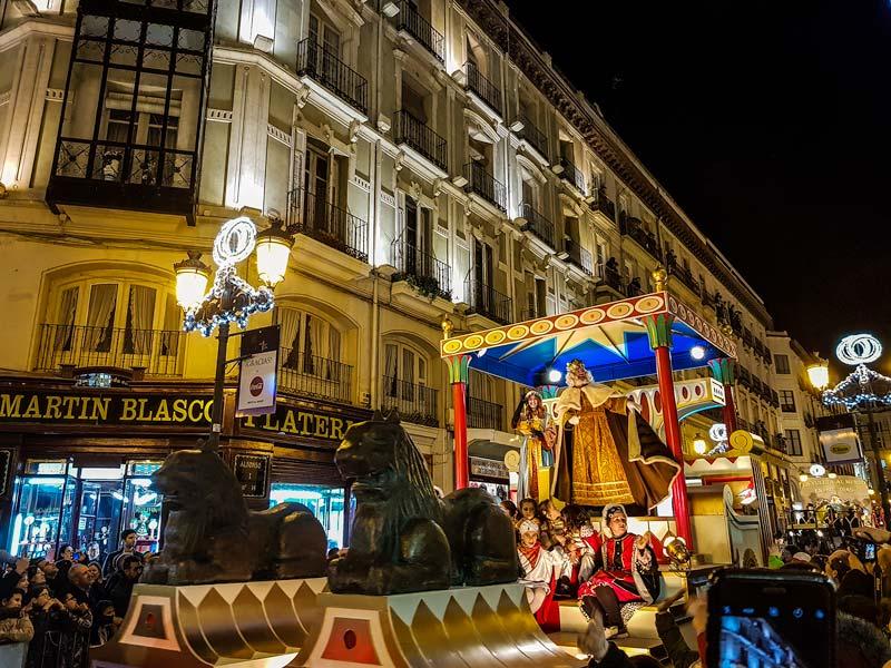 Cabalgata de Reyes en Calle Alfonso I de Zaragoza
