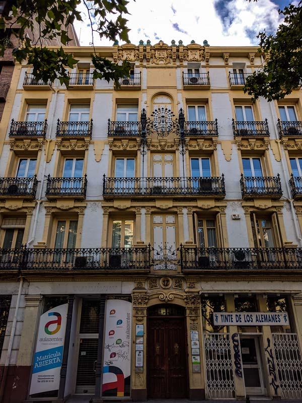 Casa Florez del Paseo Sagasta 17 de Zaragoza