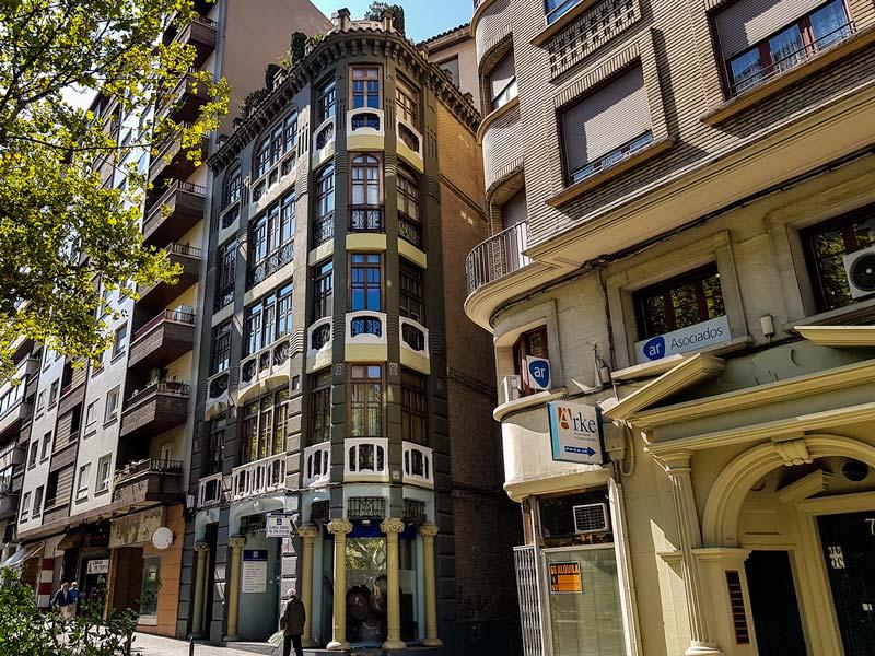 Casa Palao del Paseo Sagasta 76 de Zaragoza