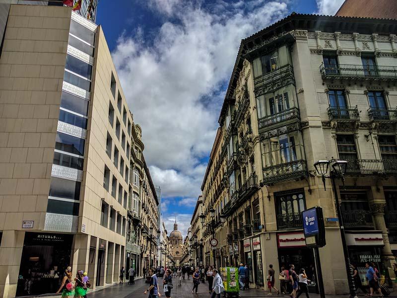Inicio de Calle Alfonso I, Zaragoza