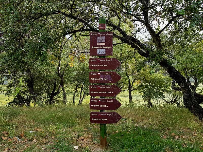 Cartel Camino Natural Ebro - Zaragoza