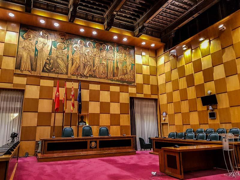 Sala de Plenos del Ayuntamiento de Zaragoza