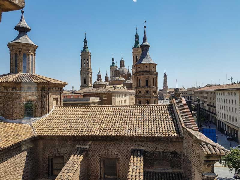 Plaza del Pilar desde el torreón