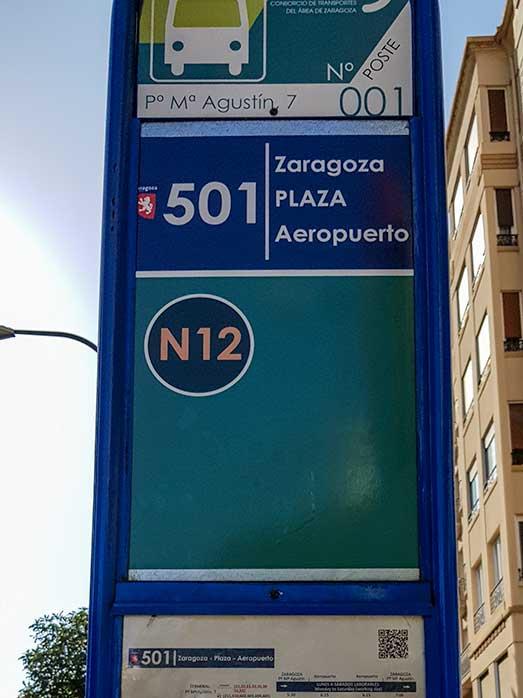 bus aeropuerto Zaragoza