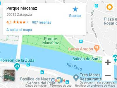 Mapa - Cómo llegar a la Carpa Aragón